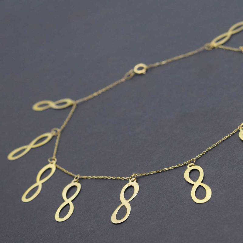 پابند طلا 18 عیار زنانه کانیار گالری مدل SH18