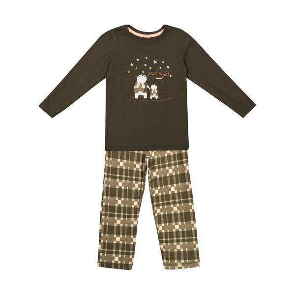 ست تی شرت و شلوار دخترانه ناربن مدل 1391333-01