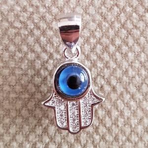 آویز گردنبند نقره زنانه طرح چشم نظر کد PK3700