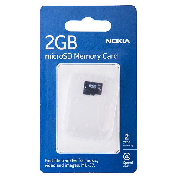 کارت حافظه microSD نوکیا مدل MU37 ظرفیت 2 گیگابایت