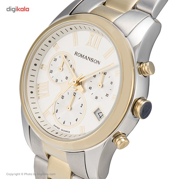 ساعت مچی عقربه ای زنانه رومانسون مدل RM6A01HLCCASR5