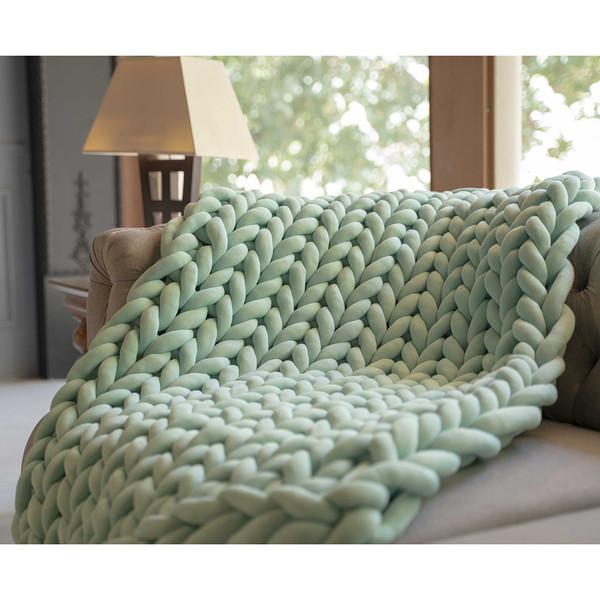 شال مبل و تخت مدل chunky سایز 85x160 سانتیمتر