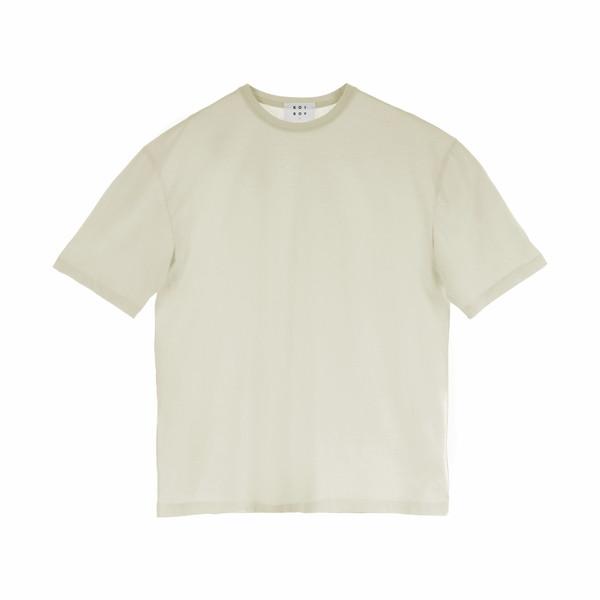 تیشرت آستین کوتاه مردانه کوی مدل هی بوی رنگ شیری