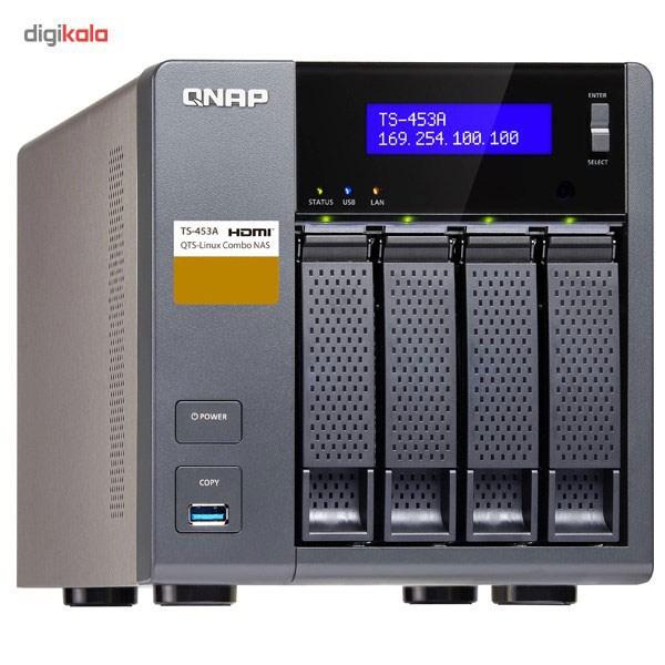 ذخیره ساز تحت شبکه کیونپ مدل TS-453A ظرفیت 4 گیگابایت