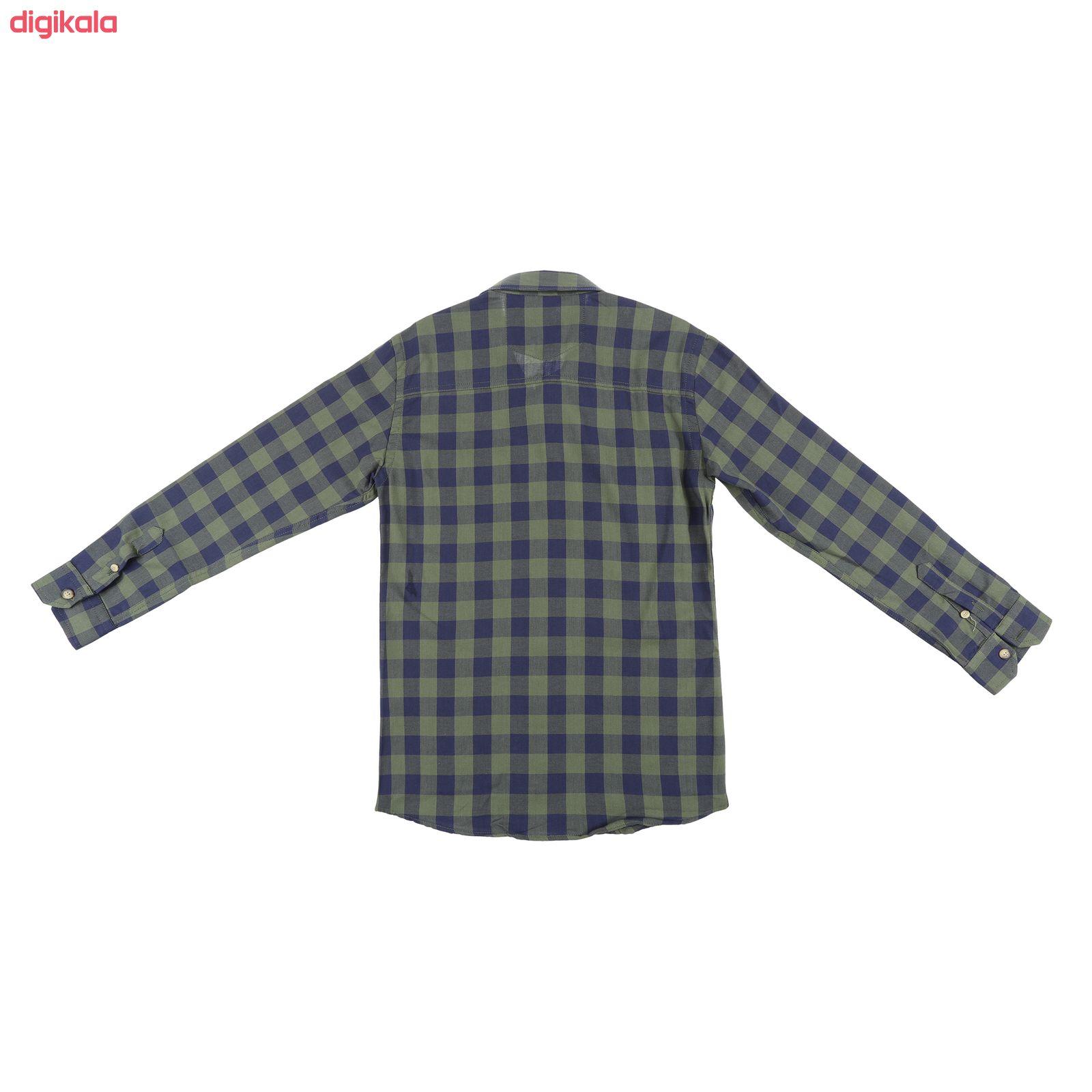پیراهن پسرانه ناوالس کد D-20119-GN main 1 2