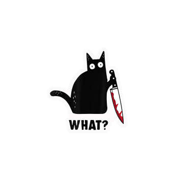 استیکر لپ تاپ لولو طرح گربه قاتل کد 155