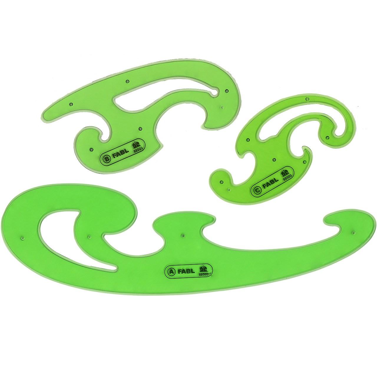 ست شابلون پیستوله 3 عددی فابل کد FB429