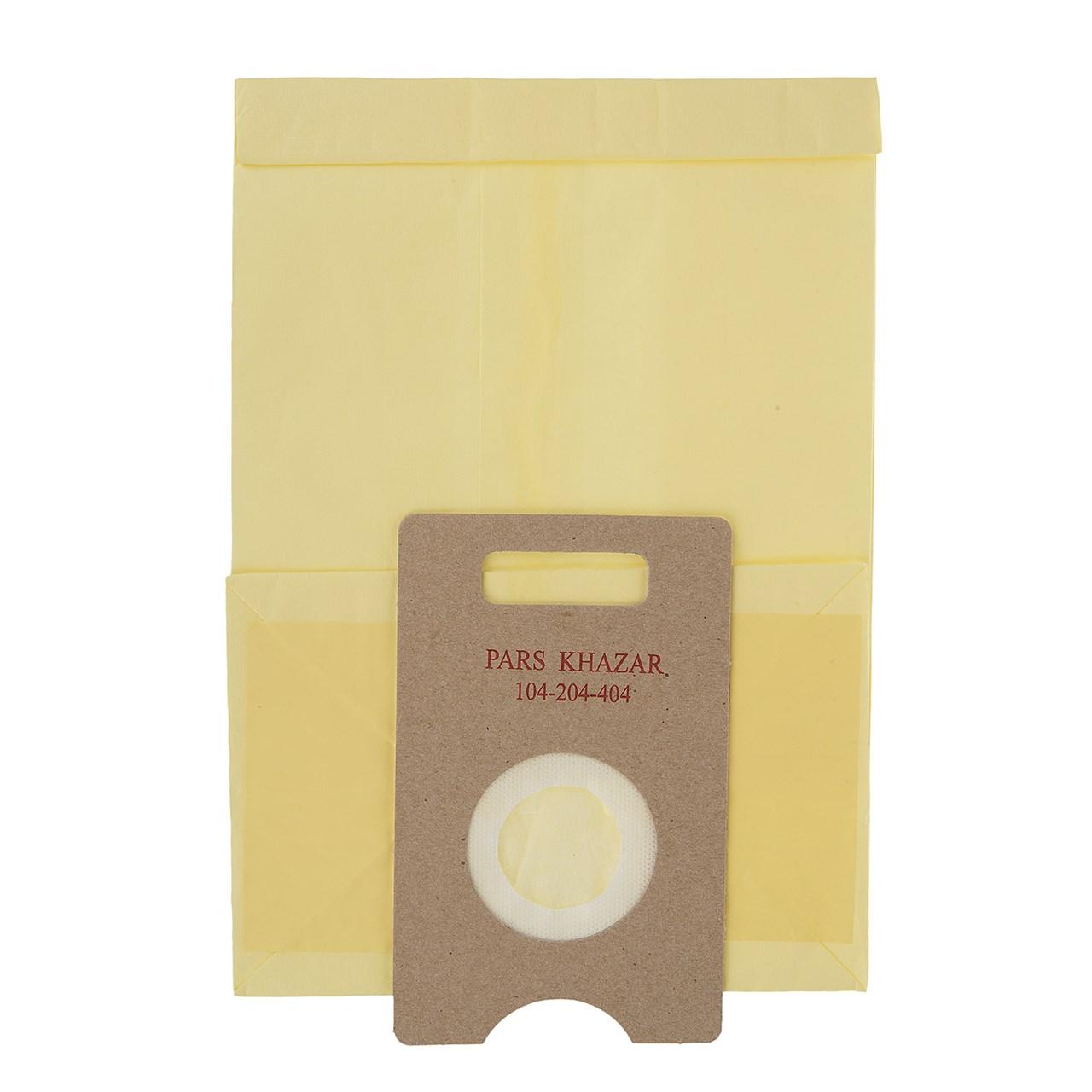 کیسه جاروبرقی پارس خزر مدل 04 مناسب برای جاروبرقی های 104/204/404 بسته 5 عدد