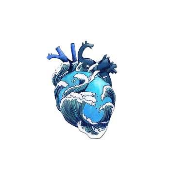 استیکر لپ تاپ لولو طرح دل دریا کد 207