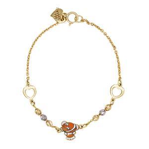 دستبند طلا 18 عیار دخترانه گالری مرجان مدل 1066