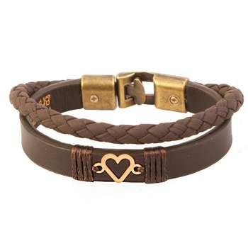 دستبند طلا 18 عیار کابوک مدل 175015 طرح قلب