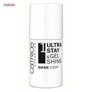 لاک ناخن کاتریس مدل Ultra Stay And Gel Shine Base Coat حجم 8 میلی لیتر