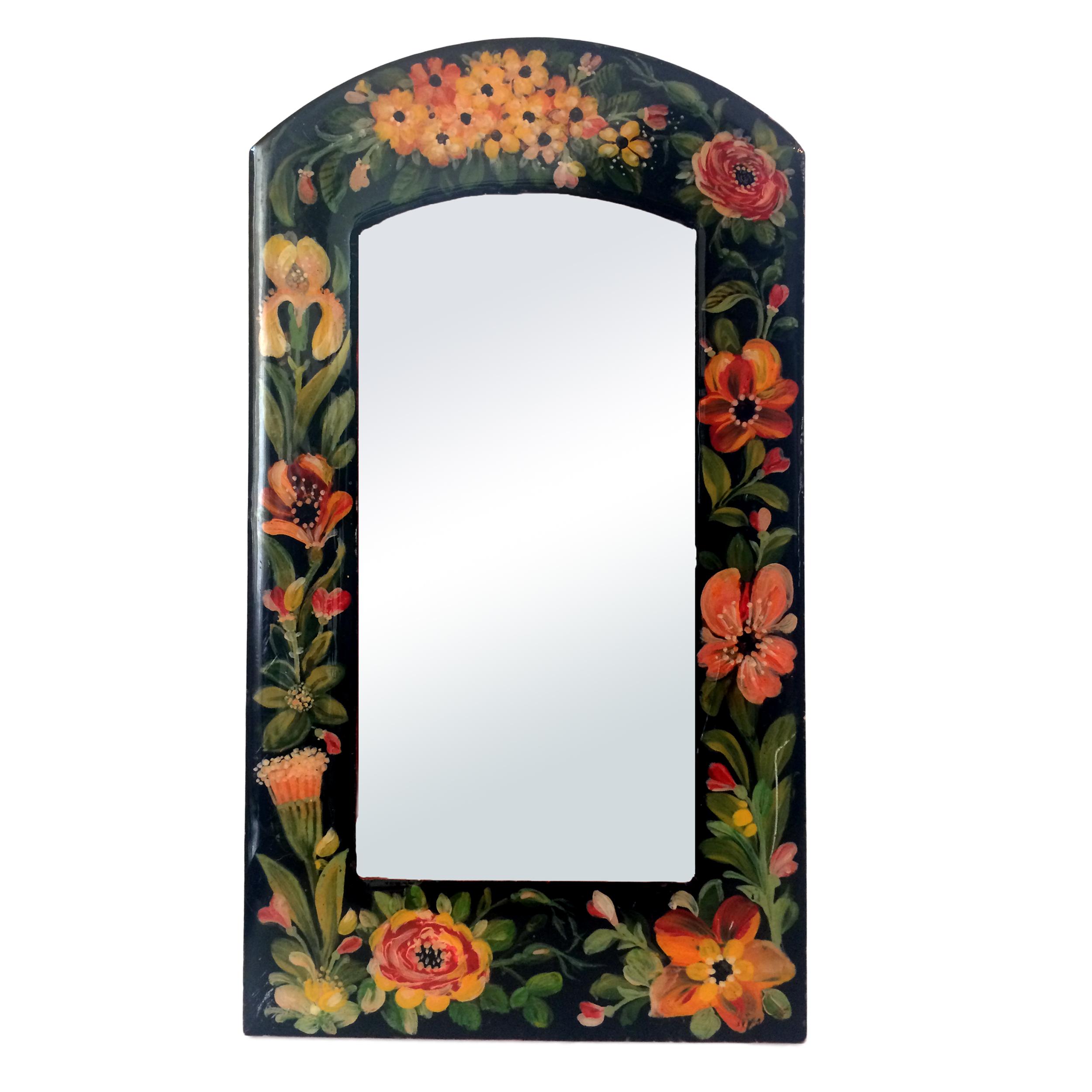 خرید                      آینه مدل گل و مرغ کد 003