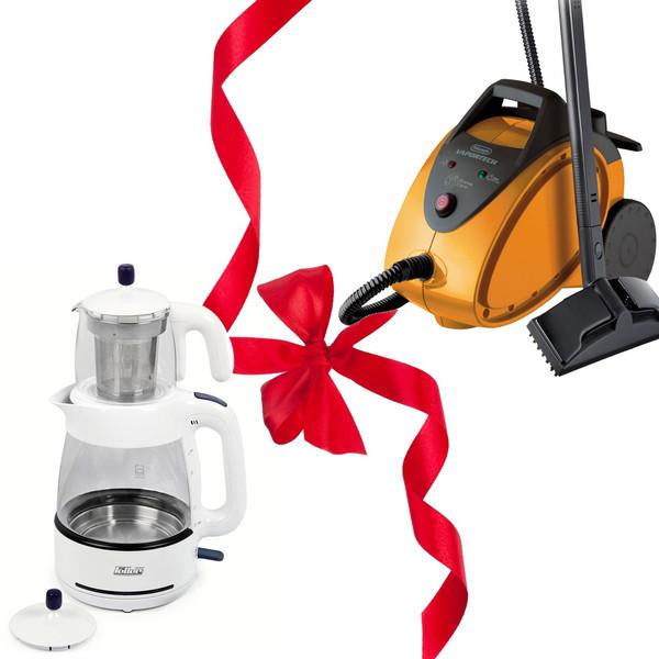 بخار شوی دلونگی مدل  SC100 و هدیه چای ساز فلر مدل TS 070