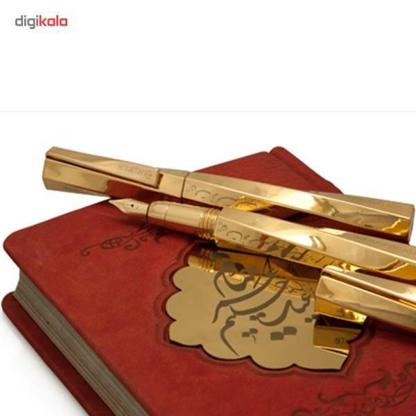 ست روان نویس و خودنویس یوروپن مدل خیام با روکش طلا main 1 19