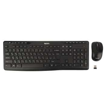 کیبورد و ماوس بی‌سیم تسکو مدل TKM 7108W | TSCO TKM 7108W Wireless Keyboard and Mouse With Persian Letters