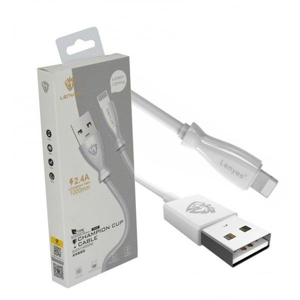 کابل تبدیل USB به لایتنینگ لنیز مدل LC901 طول 1 متر