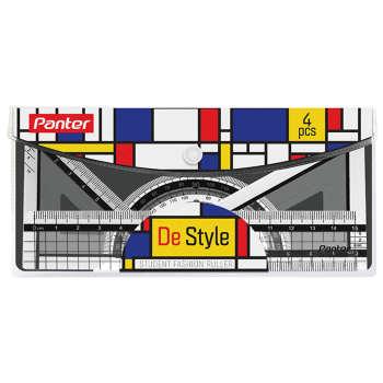 ست خط کش پنتر مدل De Style مجموعه 4 عددی