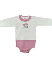 ست بادی آستین بلند و شلوار نوزادی دخترانهنیروان طرح گل کد 2 -  - 5