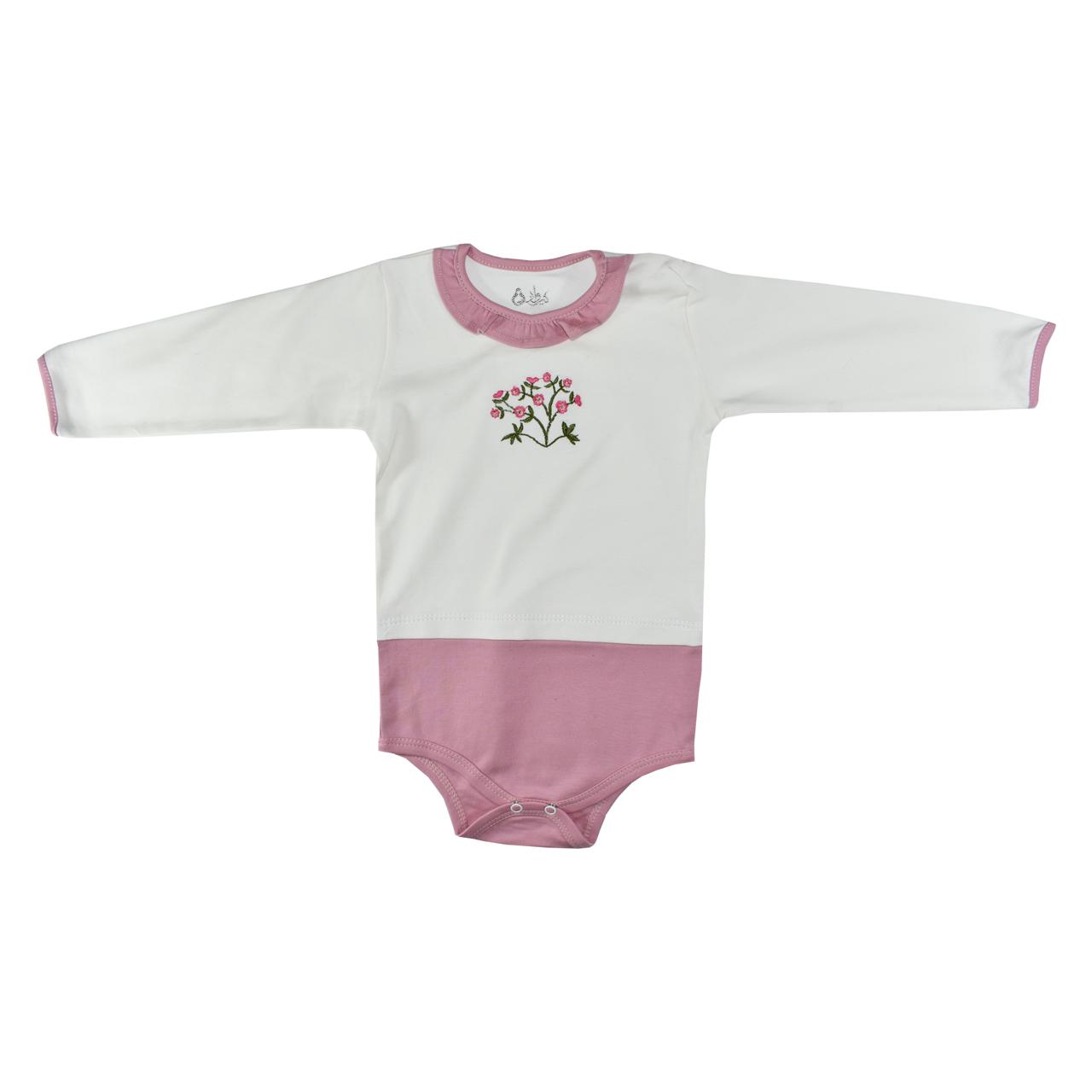 ست 3 تکه لباس نوزادی نیروان طرح گل کد 3 -  - 6
