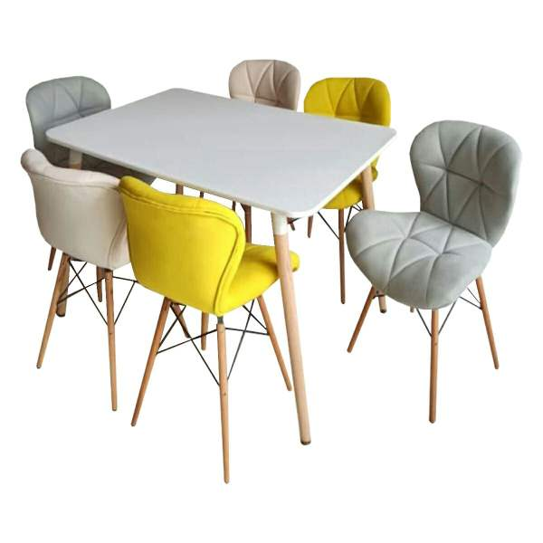 میز و صندلی ناهار خوری 6 نفره مدل A68