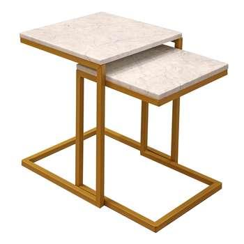 میز عسلی کد 8002 مجموعه 2 عددی