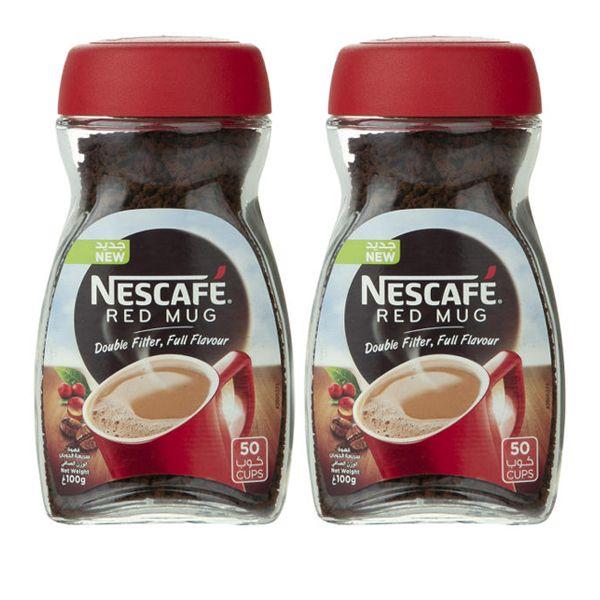 قهوه فوری رد ماگ نسکافه - وزن 100 گرم بسته 2 عددی