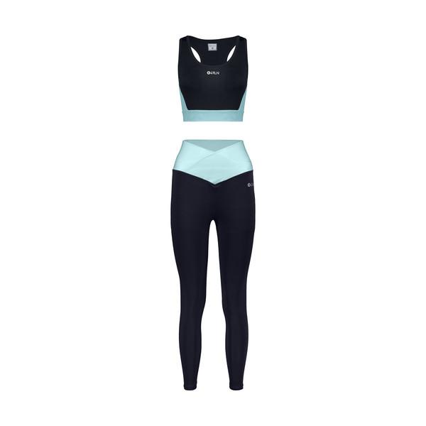 ست نیم تنه و لگینگ ورزشی زنانه بی فور ران مدل 2109210-59