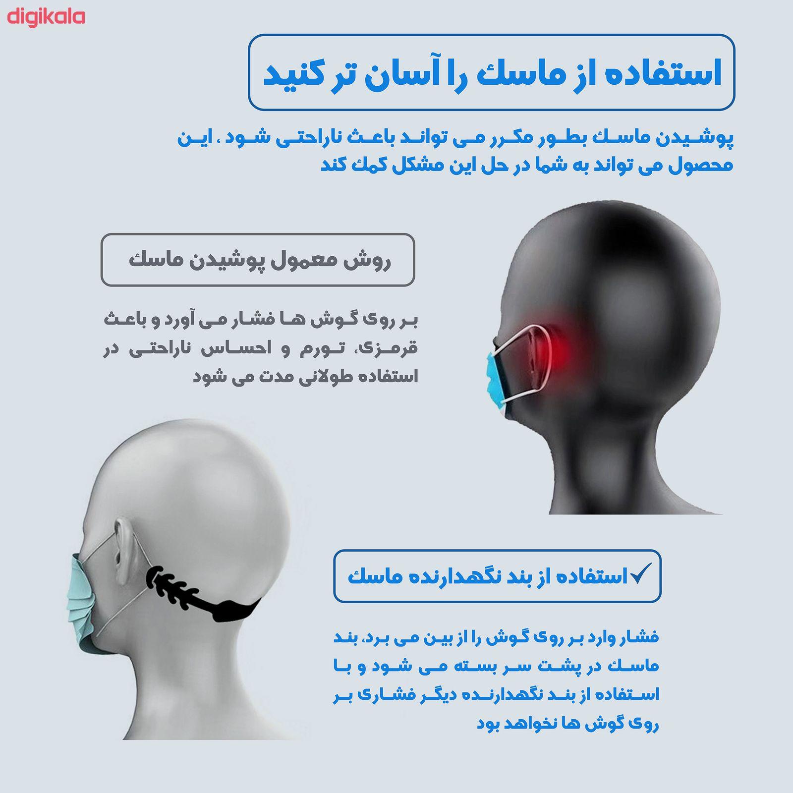 گیره نگهدارنده بند ماسک صورت مدل Ma05-thin بسته 5 عددی main 1 3