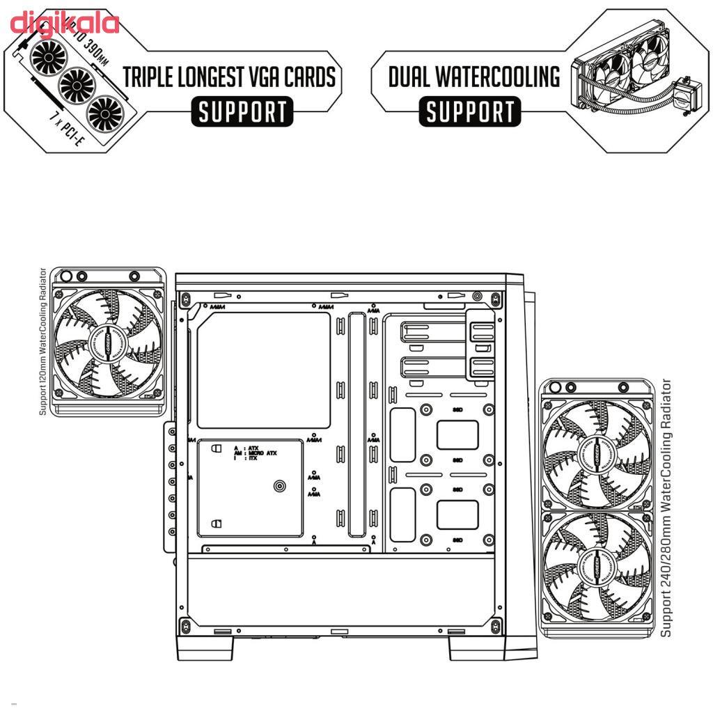 کیس کامپیوتر گرین مدل PARS EVO main 1 17