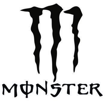 برچسب بدنه خودرو طرح پنجه هیولا کد monster
