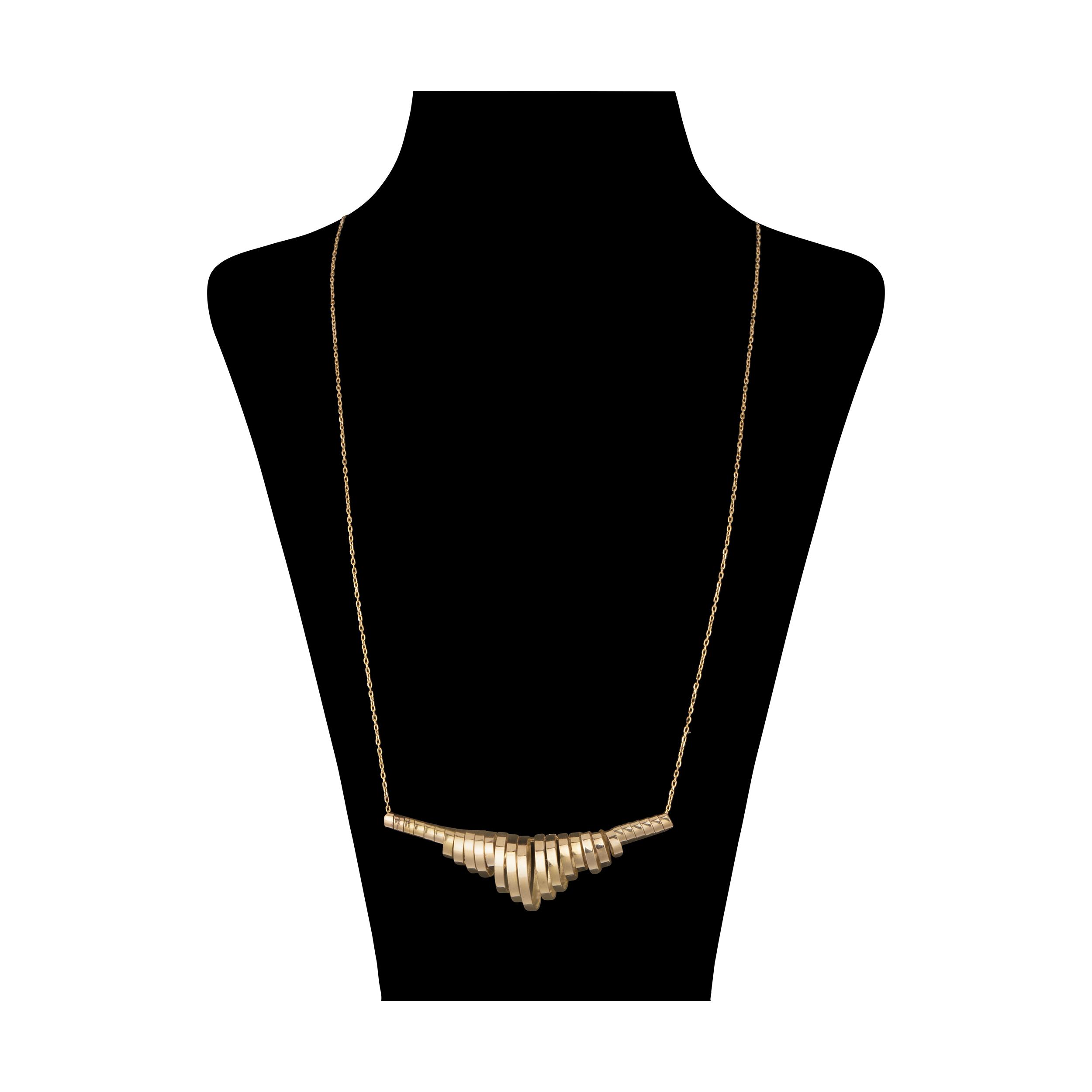 گردنبند طلا 18 عیار زنانه سنجاق مدل X071304 -  - 1