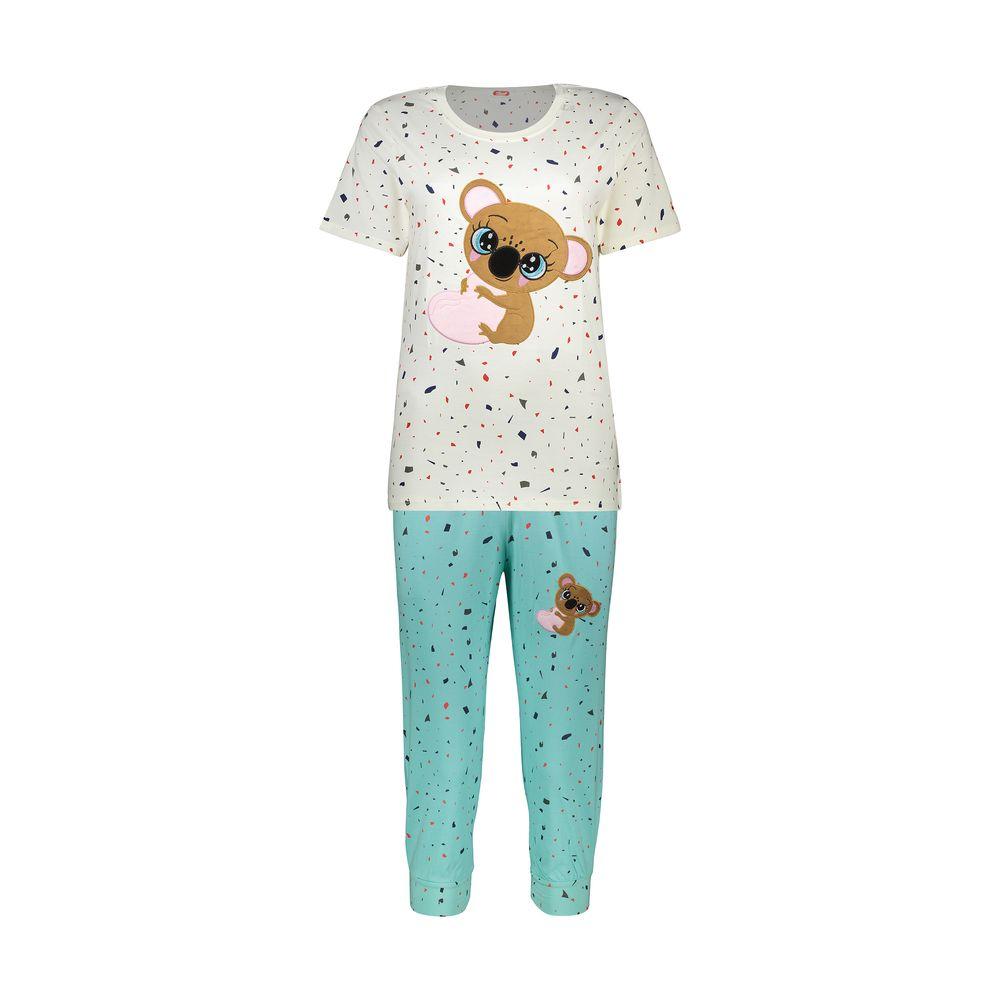 ست تی شرت و شلوارک راحتی زنانه مادر مدل 2041103-54