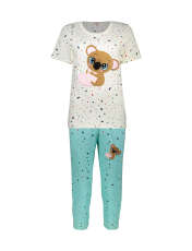 ست تی شرت و شلوارک راحتی زنانه مادر مدل 2041103-54 -  - 1