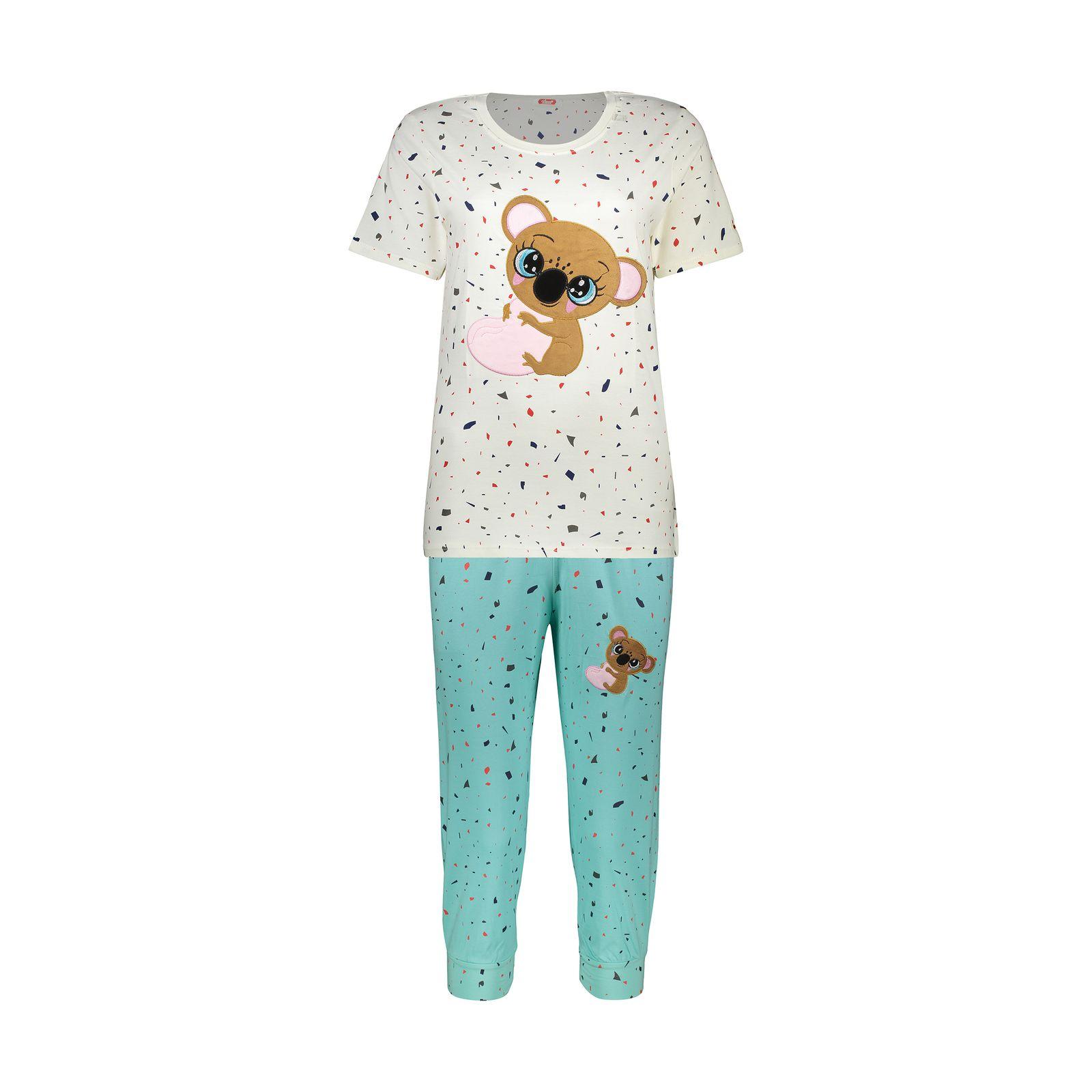 ست تی شرت و شلوارک راحتی زنانه مادر مدل 2041103-54 -  - 2