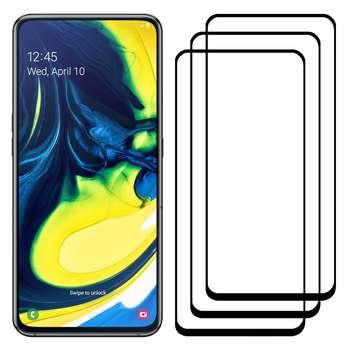 محافظ صفحه نمایش مدل FCG مناسب برای گوشی موبایل سامسونگ Galaxy A80 بسته سه عددی