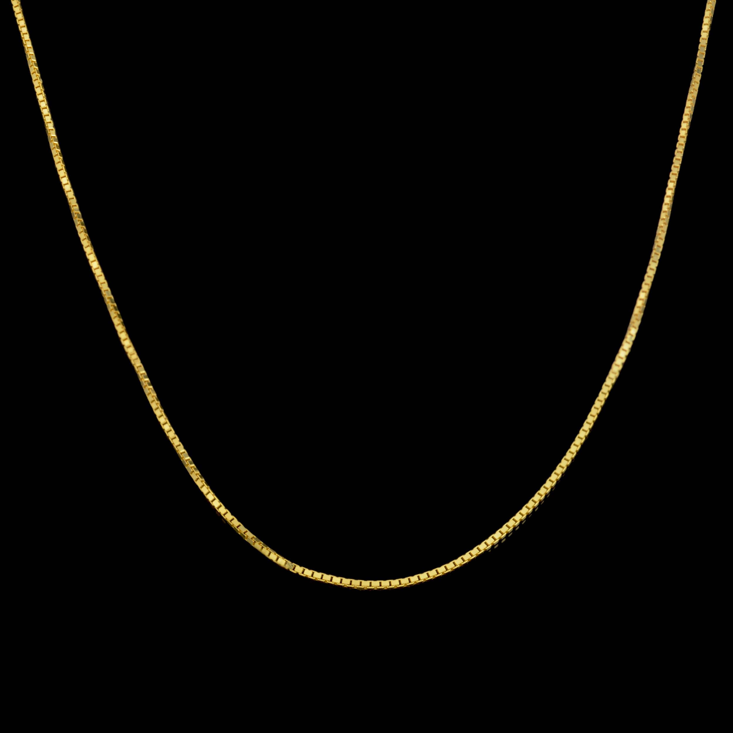 زنجیر طلا 18 عیار زنانه طلای مستجابی مدل ونیزی M03