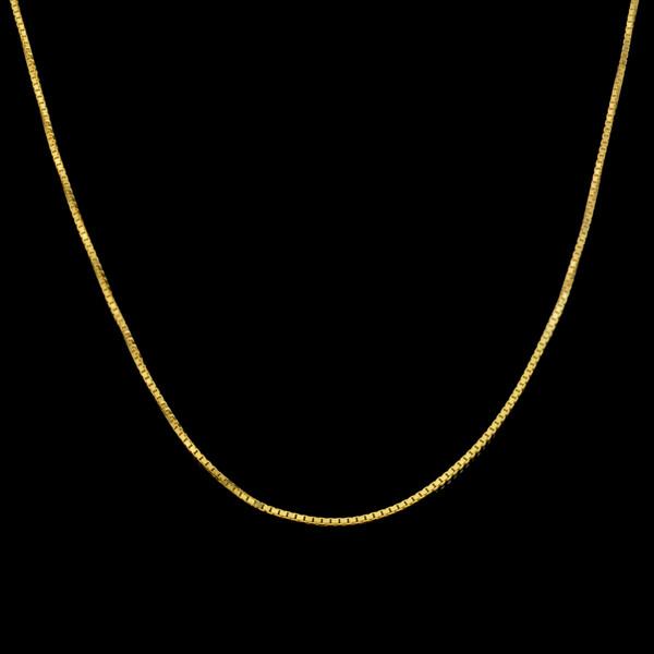 زنجیر طلا 18 عیار زنانه طلای مستجابی مدل ونیزی M04