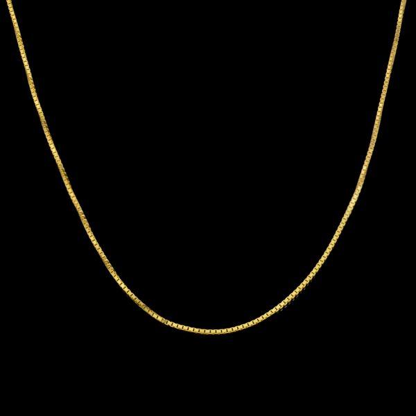 زنجیر طلا 18 عیار زنانه طلای مستجابی مدل ونیزی کد M06