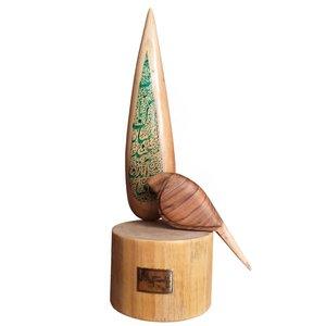 مجسمه طرح درخت سرو و پرنده کد 00431