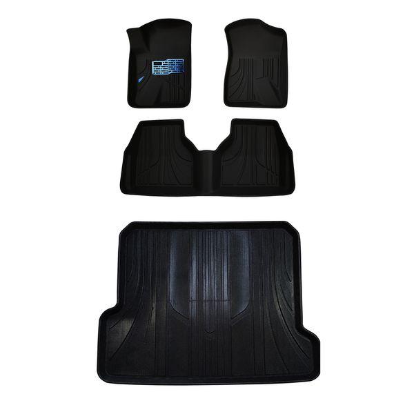 کفپوش سه بعدی خودرو مدل MAX00 مناسب برای سمند به همراه کفپوش صندوق
