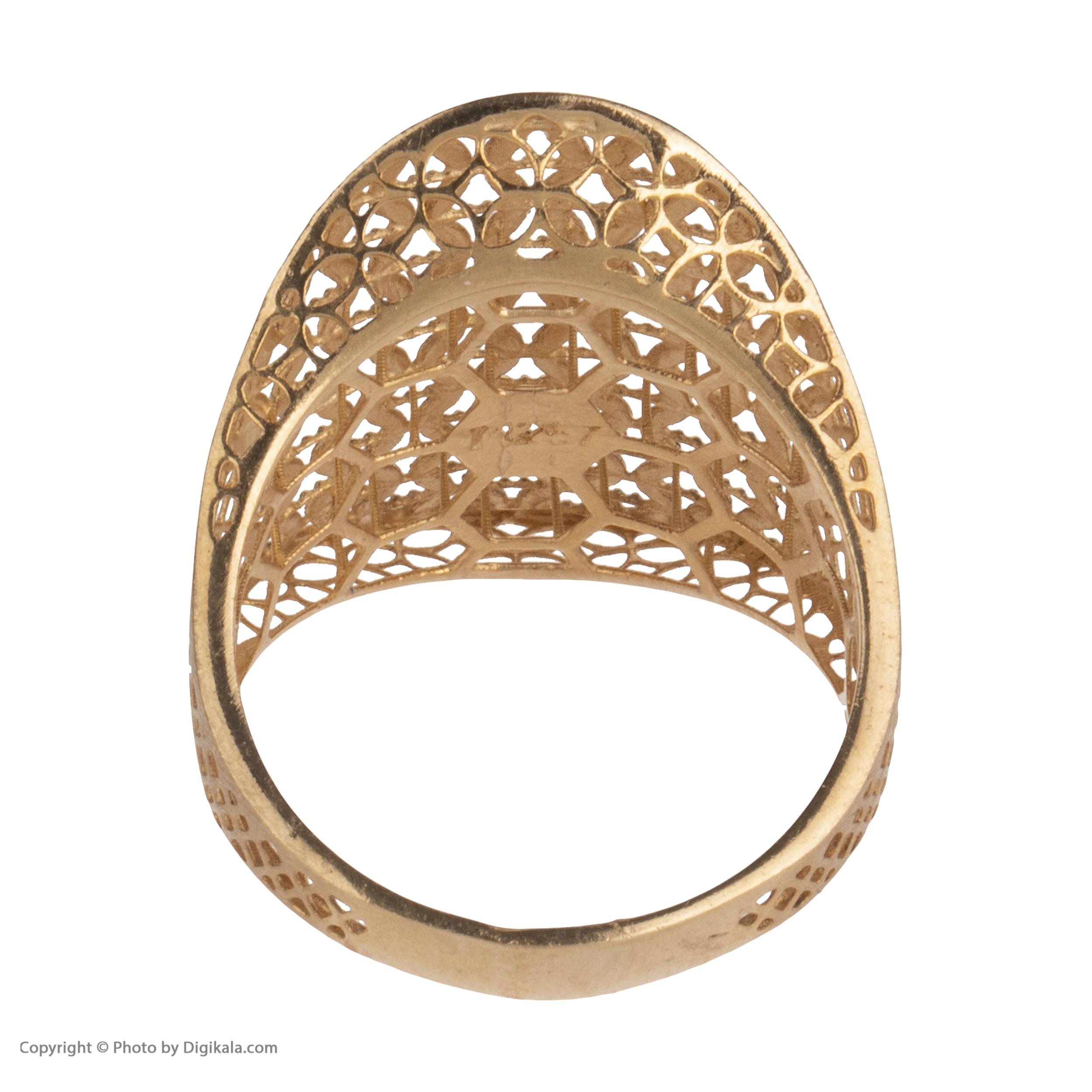انگشتر طلا 18 عیار زنانه مایا ماهک مدل MR0377 -  - 5