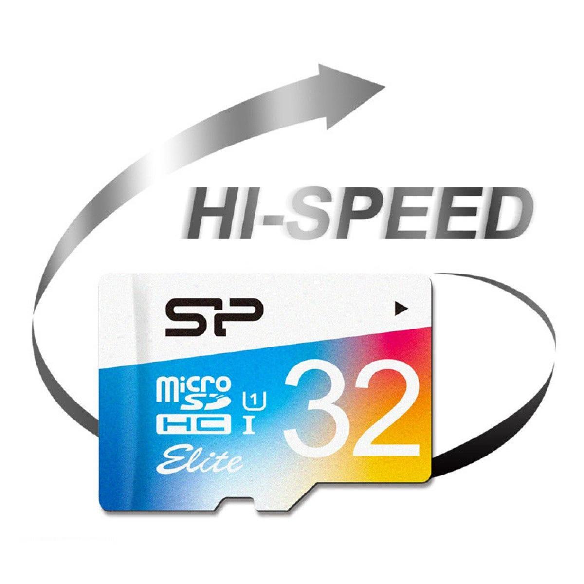 کارت حافظه microSDHC سیلیکون پاور مدل Elite کلاس 10 استاندارد UHC-I U1 سرعت 100MBps ظرفیت 32 گیگابایت main 1 7