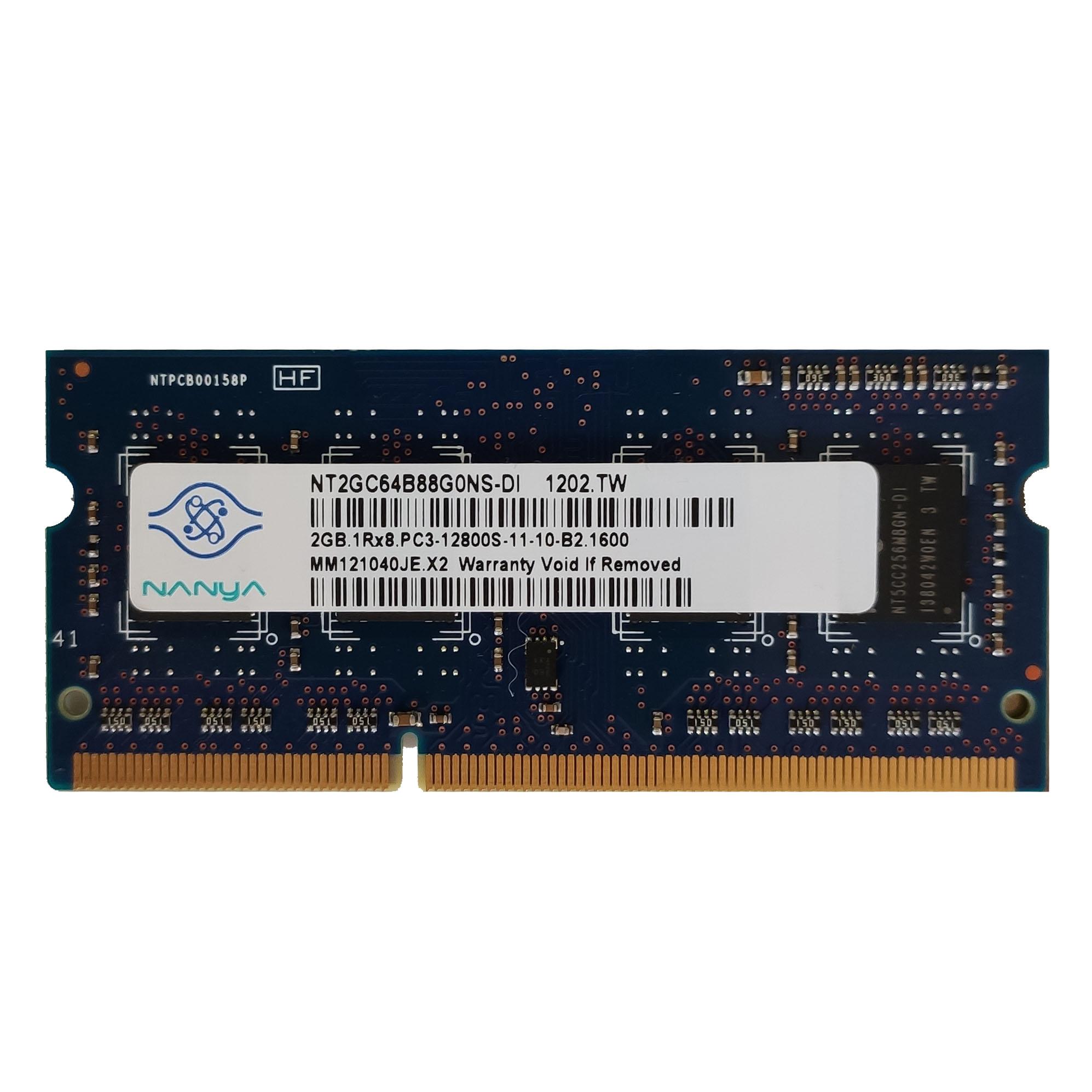 رم لپ تاپ DDR3 تک کاناله 1600 مگاهرتز B2 نانیا مدل 12800s ظرفیت 2 گیگابایت