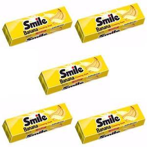 آدامس موزی اسمایل شیرین عسل - 70 گرم بسته 5 عددی