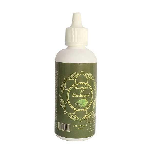 روغن تقویت کننده مو و ریش و سبیل مرهم یاب مدل قهوه سبز حجم 80 میلی لیتر