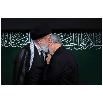 تابلو شاسی طرح سردار شهید حاج قاسم سلیمانی و رهبر حضرت خامنه ای مدل T1001