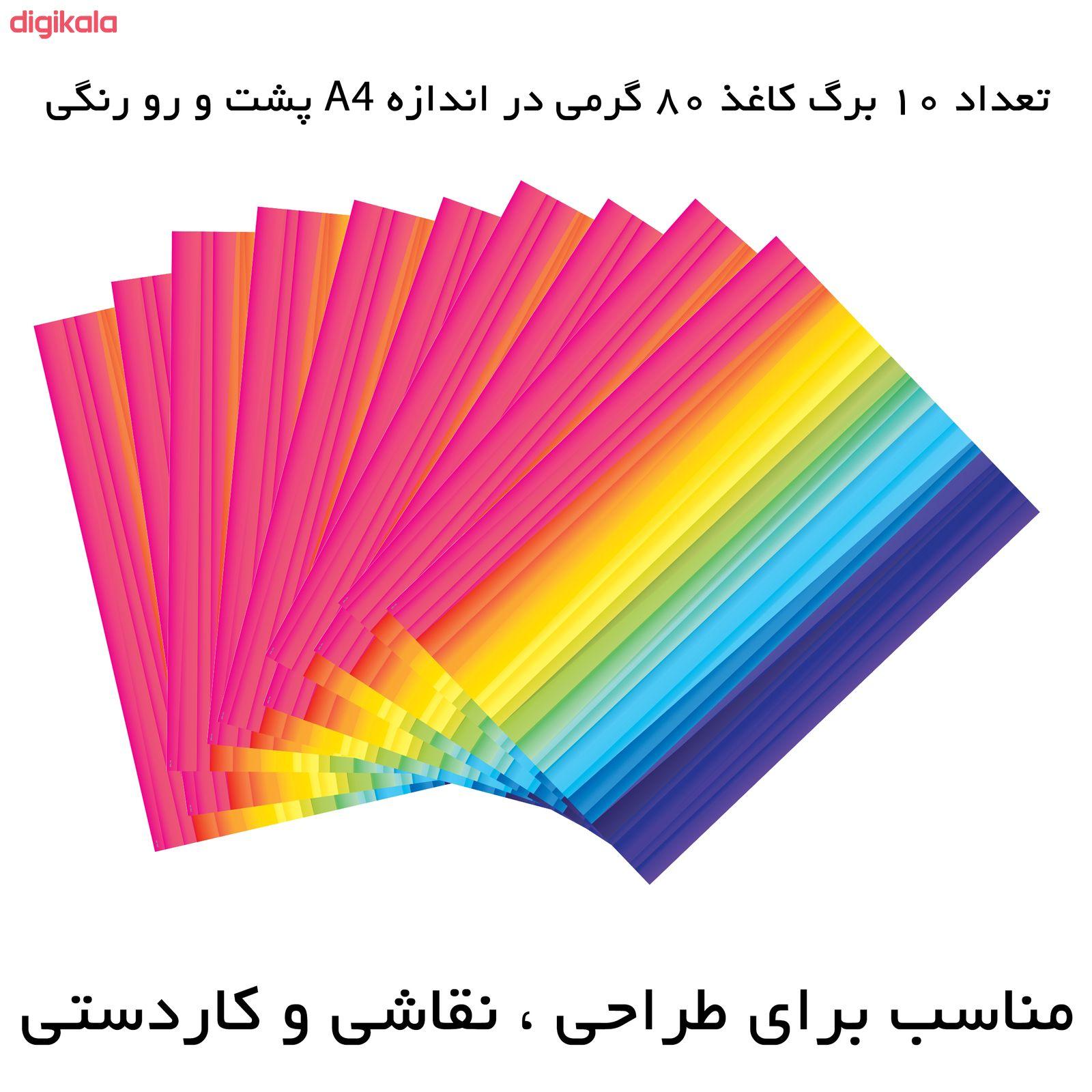 کاغذ رنگی A4 مستر راد مدل رنگارنگ بسته 10 عددی main 1 1