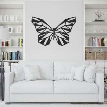 استیکر چوبی طرح پروانه