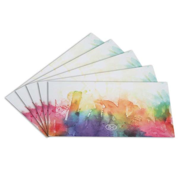 پاکت نامه انتشارات سیبان مدل Watercolor بسته 5 عددی